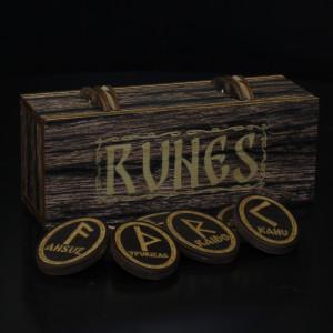 Комплект скандинавских рун в коробке, овал