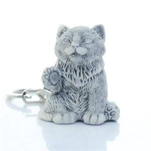Кот (Котенок с поднятой лапкой маленький) / брелок